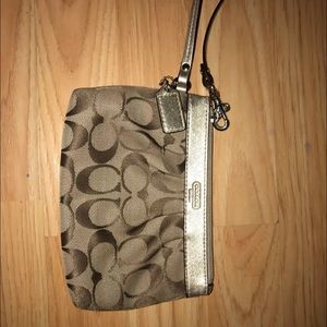 Lightly used Large Coach wristlet!