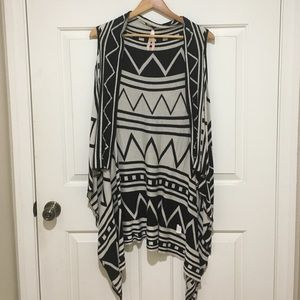 Black and white Printed cardigan