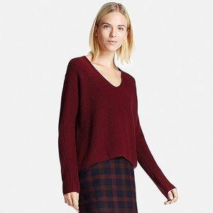 Brand NEW uniqlo blended cashmere v neck sweater