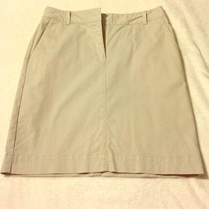 Brooks Brother Khaki Pencil Skirt- size 8