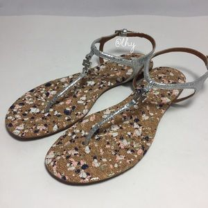 TORY BURCH CONFETTI THONG SANDALS SZ 8.5