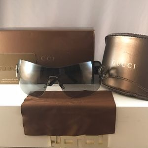 Gucci Accessories - Gucci GG 2890S BGYVK Shiny Black shield Sunglasses