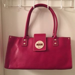Kate Spade red leather satchel