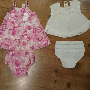 baby gap Other - Newborn Dresses, 2, both with diaper covers