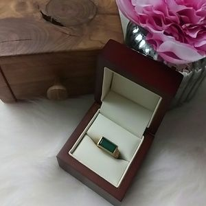 Satya Jewelry Jewelry - Satya Green onyx matte gold plated ring