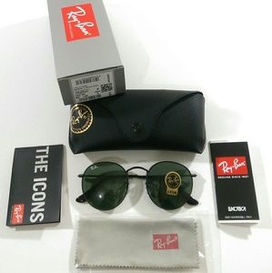 Ray-Ban Accessories - AUTHENTIC Dark green Ray Ban round metal