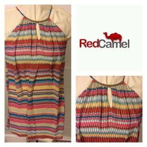 Red Camel Dresses & Skirts - RED CAMEL multi colored halter dress