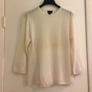 J.Crew Collection Cashmere Mini Cable Sweater