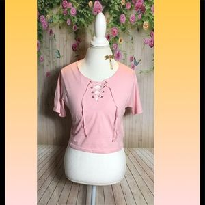 brave soul Tops - Tie front pink crop M and L NWT
