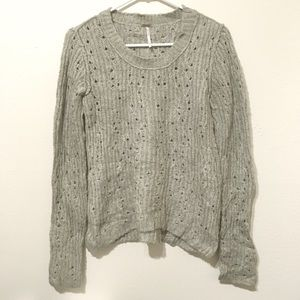 Free People Sweaters - Free People Beige Chunky Knitted Sweater S