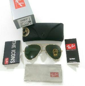 Ray-Ban Accessories - AUTHENTIC dark green Ray Ban aviator