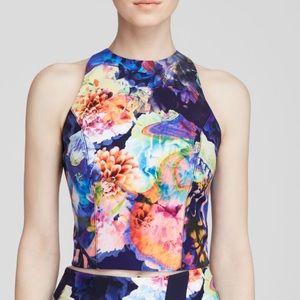 Bardot Tops - BARDOT Multicolor Print Sleeveless Crop Top
