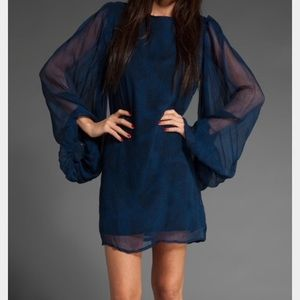 Winter Kate Dresses & Skirts - Winter Kate blue and black dress
