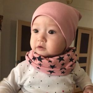 Other - Pink Star Hat and Scarf Set Baby Toddler Girl