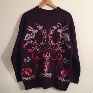 PULLOVER SWEATER WITH VINTAGE INSPIRED DETAIL