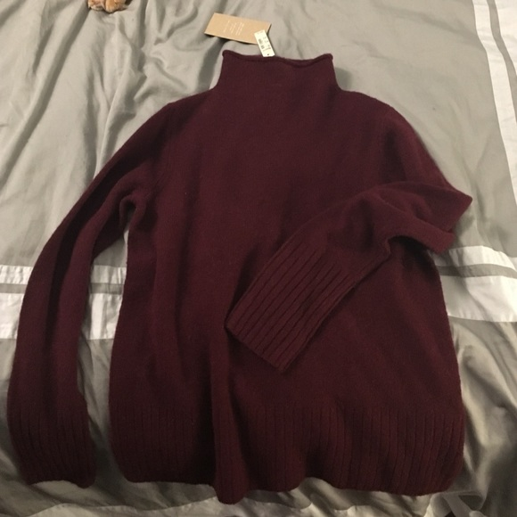 36% off Madewell Sweaters - Madewell dark red turtleneck sweater ...