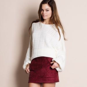 Bare Anthology Sweaters - Balloon Sleeve Oversized Sweater