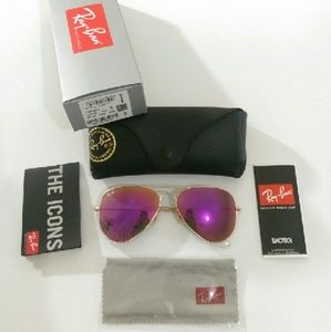 Ray-Ban Accessories - Authentic hot pink Ray Ban aviator