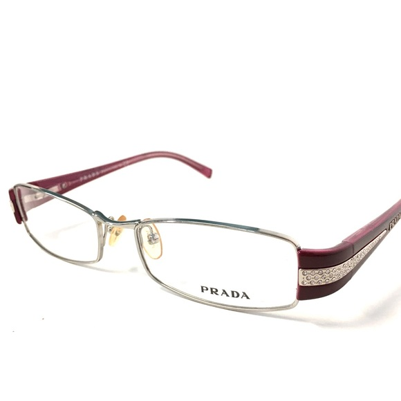 43441dcf96e PRADA Eyeglasses Silver Cherry Red NWOT. M 5871b91afbf6f925fe0330e9. Other  Accessories ...