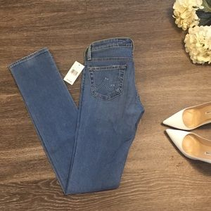 NWT AG Premiere Skinny Straight Leg Jeans, Size 24