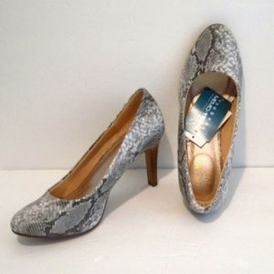 Shoes Gray Snake Print size 7.5 new