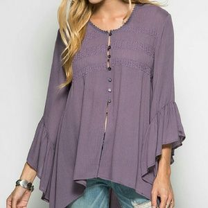 She and Sky Tops - Lavender tunic top