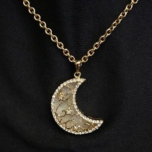 Jewelry - Crystal & Mother of Pearl Moon Necklace