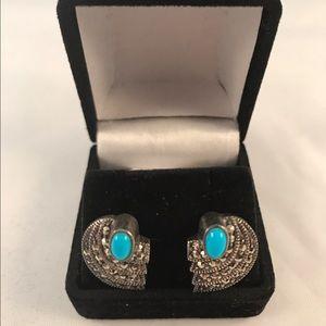 Sterling Silver Earrings- Marcasite