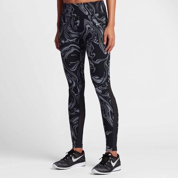 5b11385affcf8 Nike Pants | Marble Swirl Power Epic Lux Tights | Poshmark