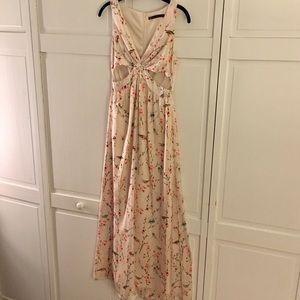 Zara Dresses & Skirts - Zara Cut-Out Print Maxi Dress