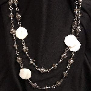Brighton Jewelry - Brighton Mother of Pearl & Beaded Necklace