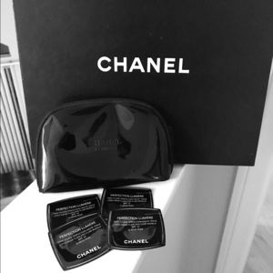 Authentic CHANEL Patent Leather Makeup Bag