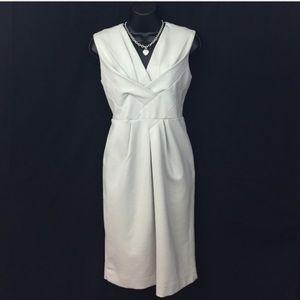 🎉 Adrienne Vittadini designer nude beige dress