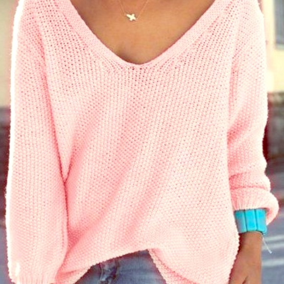 71% off LF Sweaters - LF Millau Light Pink Oversized Sweater sz ML ...