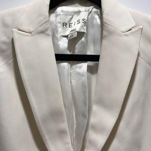 Reiss Jackets & Blazers - Worn once: Reiss Grosgrain White Blazer