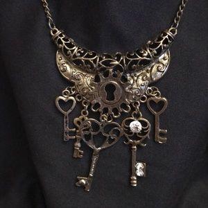 Jewelry - Steampunk Keys Necklace in Brass