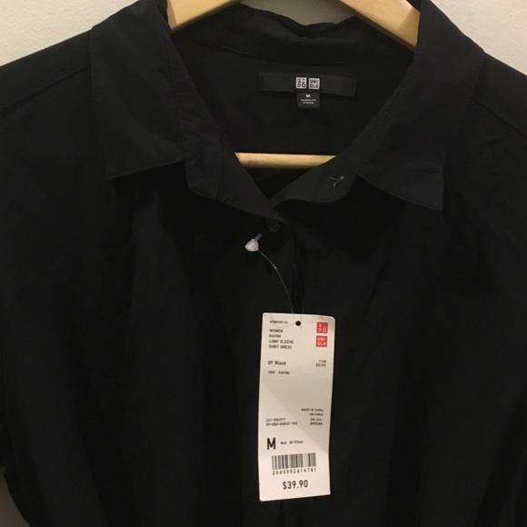 Black button down shirt dress