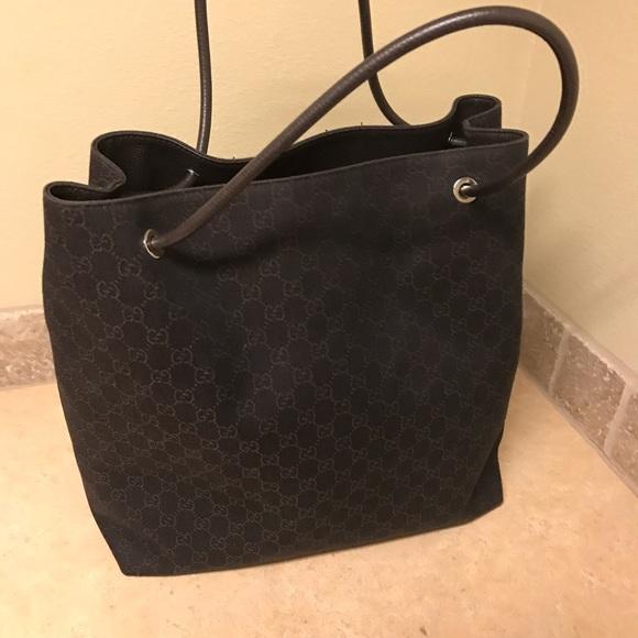 772e087685 Gucci Bags | Large Monogram Logo Gifford Jacquard Tote | Poshmark