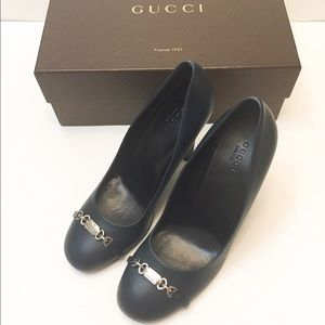 Gucci Shoes - 🆕NIB Authentic Gucci leather heels SZ 38.5