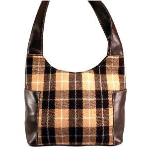 Preston & York Handbags - PRESTON & YORK Plaid Wool Handbag