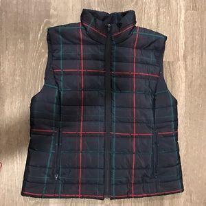 LOFT Jackets & Blazers - Plaid Puffer Vest