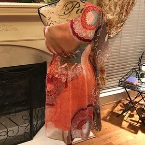 Bisou Bisou Michele Bohbot Sz 4 One Shoulder Dress