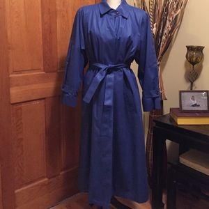 London Fog Jackets & Blazers - BEAUTIFUL LONDON FOG royal blue trench coat