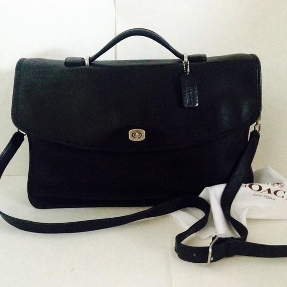 c5394593c6 Coach Handbags - Coach Black Leather Classic Lexington Briefcase