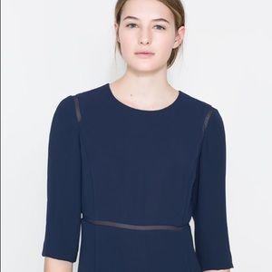 Navy Blue Zara Dress