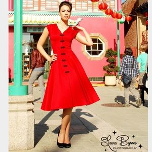 Pin Up Girl Clothing Dresses & Skirts - PinUp Girl Clothing Sandra Dress