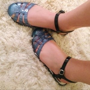 Igor Shoes - Mary Jane sparkle jellies 🌊🌨