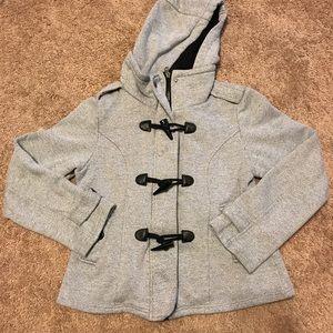 Sebby Jackets & Blazers - Sebby Gray Tweed Hooded Jacket