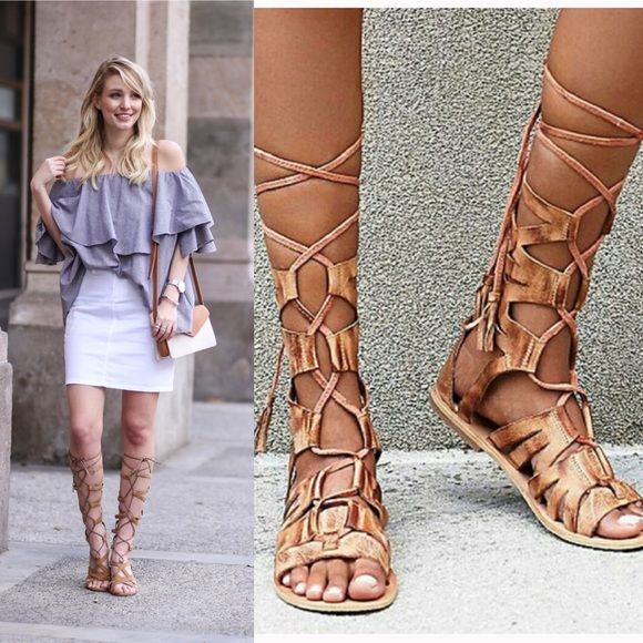 NWOT Free People Mesa Verde Gladiator Sandals 38/8