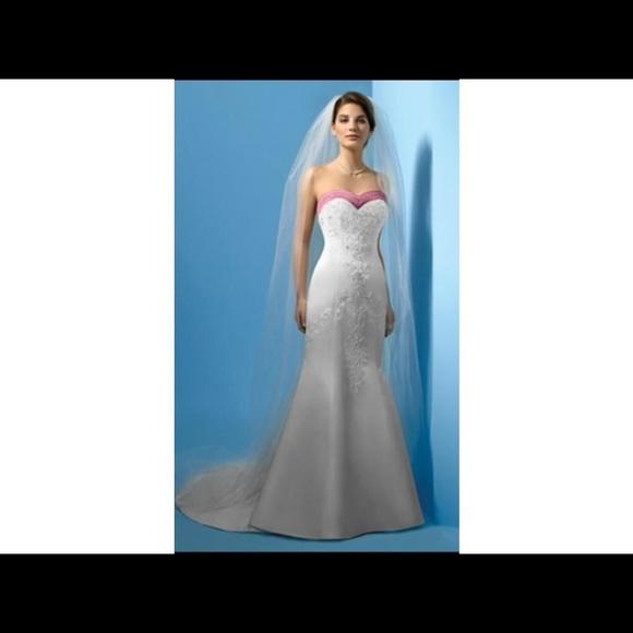Alfred Angelo Dresses | Sugar Plum Wedding Gown White Silk Trumpet ...